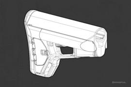 Magpul ACS Carbine Stock (Mil-Spec) Grey