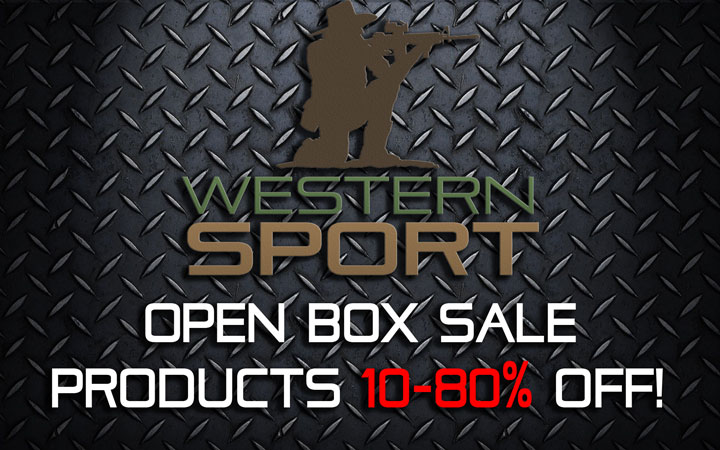 western sport open box sale